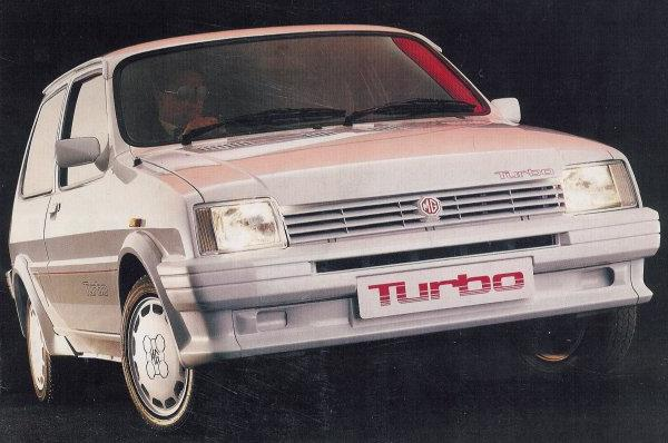 All White MG Metro Turbo with Turbo door transfers, tailgate decal and show plates