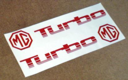 MG Montego Turbo door decal