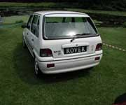 Rover 100 with great showroom plate
