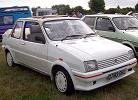 All White MG Metro Turbo Rapport Cabriolet