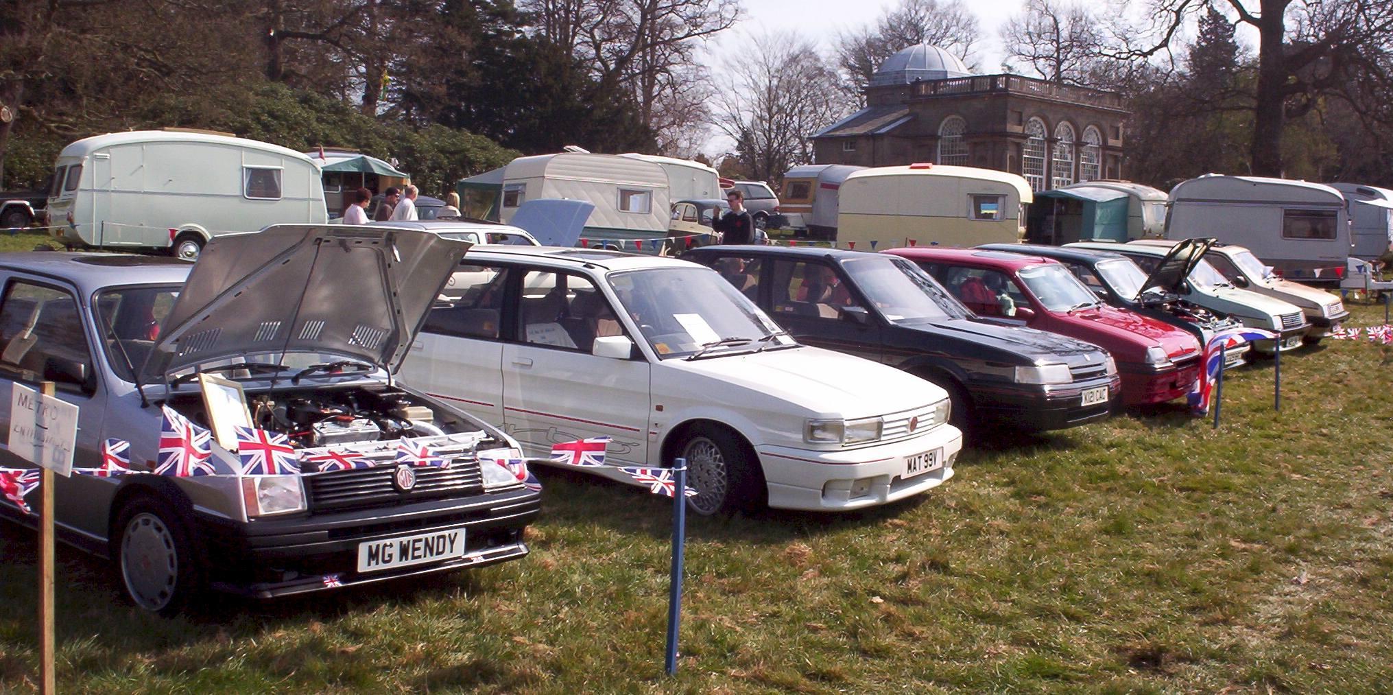 MG 'M' Group cars at Weston Park