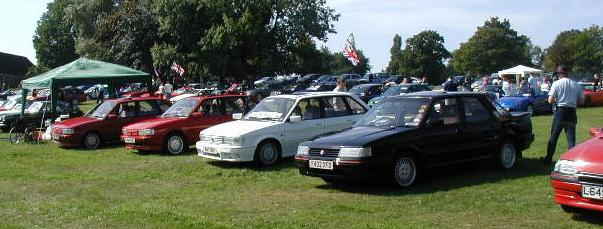 MG 'M' Group cars at Wicksteed Park