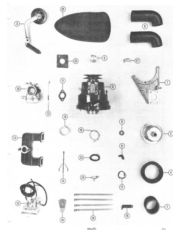 The Original MGTD Midget - Aftermarket and Dealer Add Ons