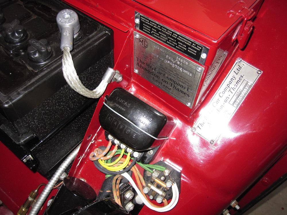 the original mgtd midget nitty detailsMg Td Wiring Harness Installation #18